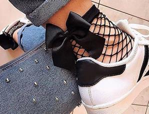 6 paia di calzini a rete
