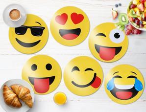 6 tovagliette emoticons