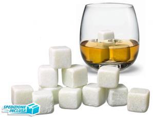 9 cubetti Whiskey Stones