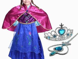 Costume principessa con scettro e corona_N
