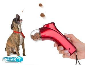 Gioco-addestramento animali lancia croccantini