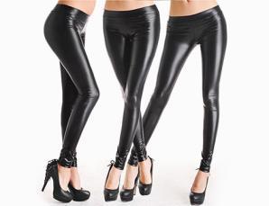 Leggings donna similpelle