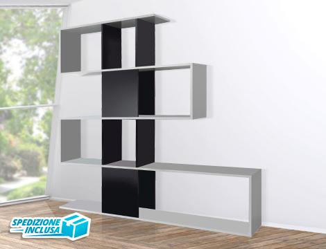 Groupalia sconto 50 su librerie modello kafka super for Librerie design scontate