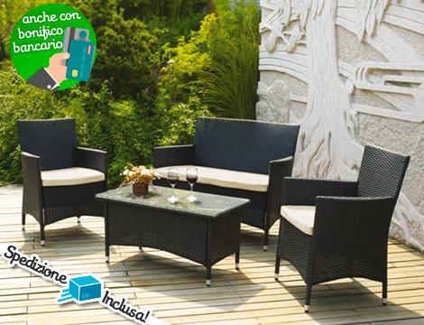 Offerta shopping salotto da giardino elba groupalia for Salotto giardino offerta