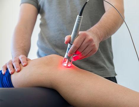 Una seduta di Laserterapia
