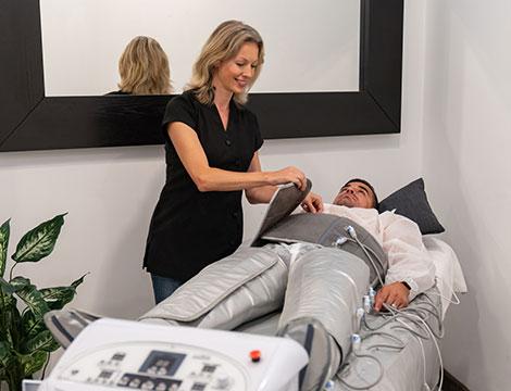 10 pressoterapie con massaggi meccanici