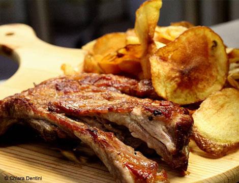 1kg di carne alla griglia con dolce e vino