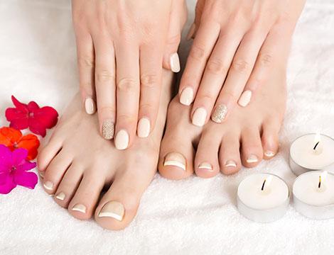 2 manicure e pedicure con smalto classico