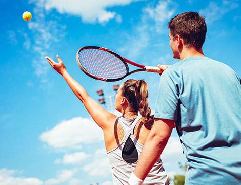 3 o 5 lezioni di tennis collettive