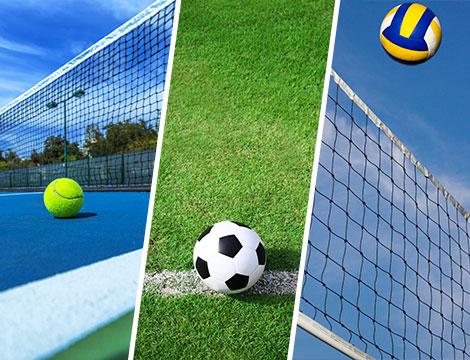 campo da tennis, calcio o beach volley