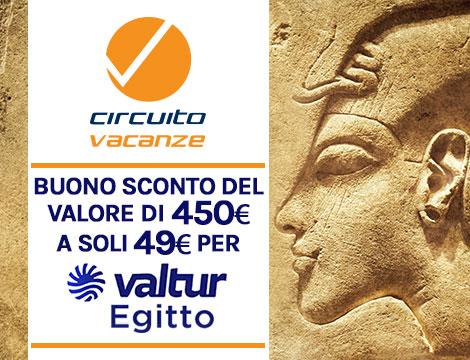 Buono 450€ per viaggio in Egitto con Valtur