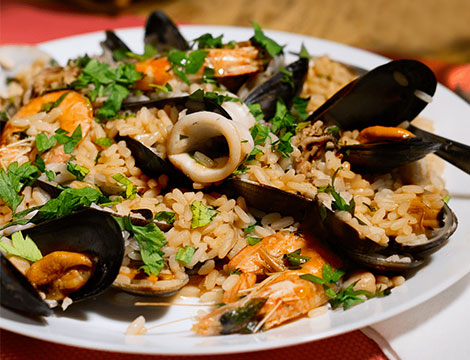 Ristorante Burro e Sugo Roma risotto ai frutti di mare