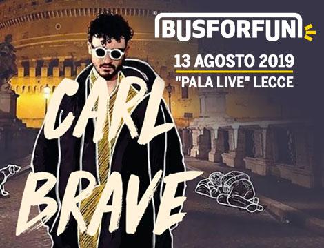 Carl Brave Lecce Pala Live