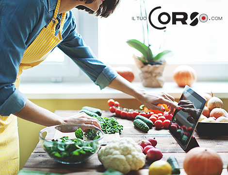 Offerta tempo libero corso online cucina vegana e light - Corso di cucina potenza ...