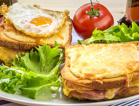 Croque madame e monsieur x2