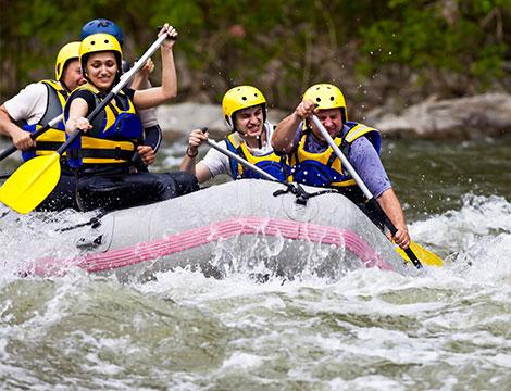 Discesa soft rafting sul Tevere per 6 persone