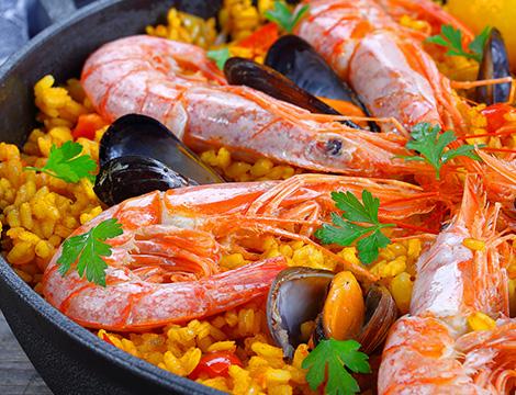 menu paella
