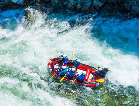 Una escursione di rafting