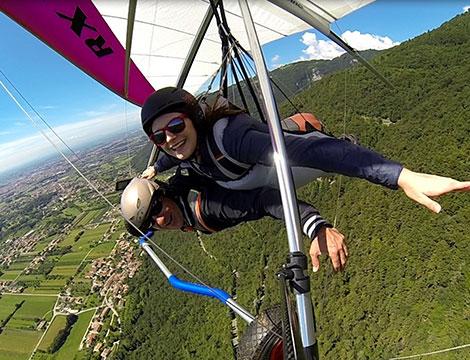 Esperienza di volo su deltaplano biposto sul Monte Grappa