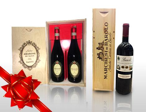 Idea regalo vino in confezione di legno