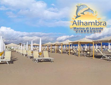 Ingresso spiaggia Bagno Alhambra Viareggio_N