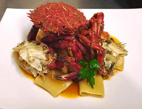 La tana del polpo Roma paccheri ai crostacei