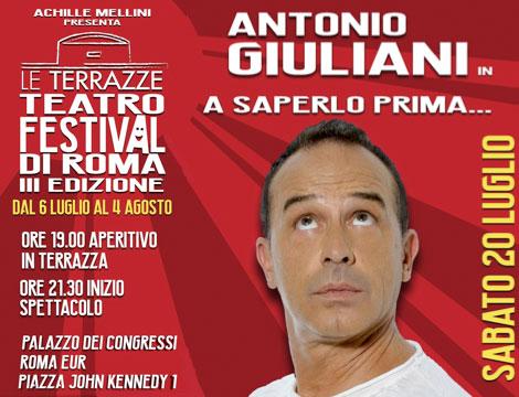 le terrazze teatro festival Antonio Giuliani