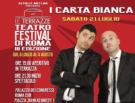 Le Terrazze Teatro Festival spettacolo e apertivo