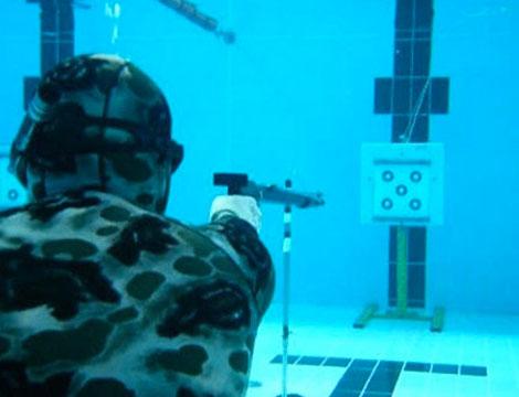 Lezioni di tiro al bersaglio subacqueo con istruttore