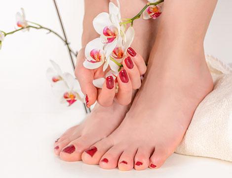 Manicure o pedicure estetica