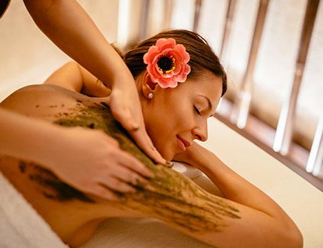 Un massaggio a scelta e fango