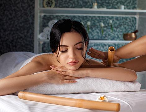 Massaggio al bamboo