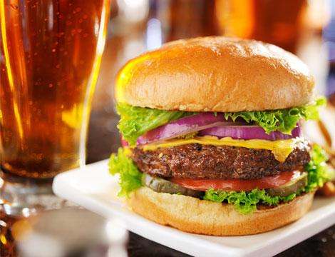 Maxi hamburger e birra Giulio Agricola