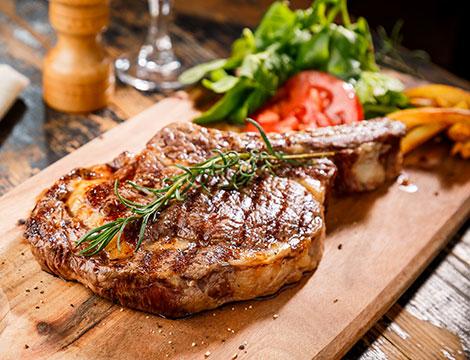 Menu carne con costata di manzo