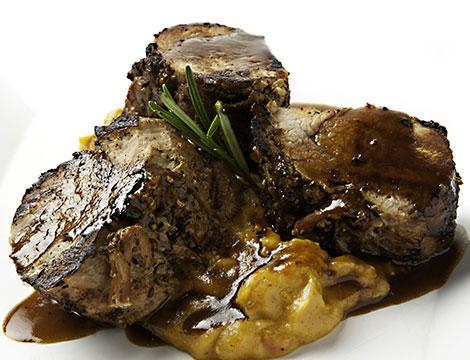 cena gourmet di carnesul lago di Como Lido di Cadenabbia