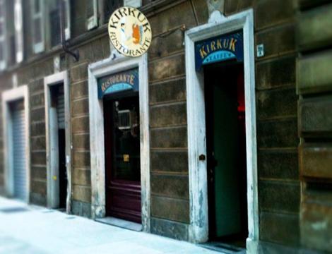 Menù Curdo Mediorientale da Kirkuk Torino facciata esterna