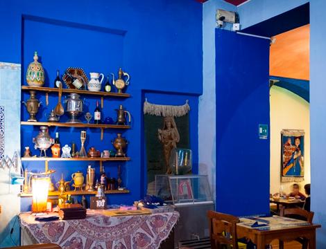 Menù Curdo Mediorientale da Kirkuk Torino la sala interna