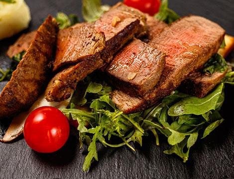 Menu di pesce o di carne per due persone