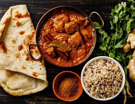 Menu indiano vegetariano a Bologna