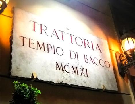 Nuovo menu mare Il Tempio di Bacco