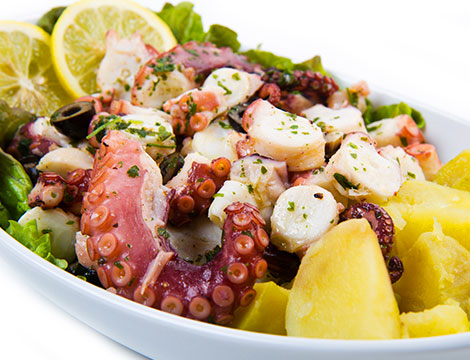 menu pesce zona Trionfale Roma insalata di polpo