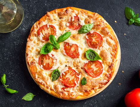 Menu pizza e bibita