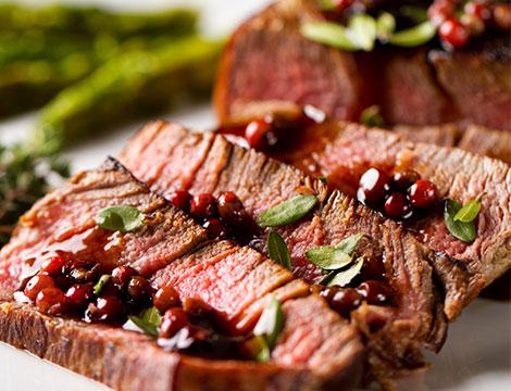 Menu terra fuoriporta tagliata di carne