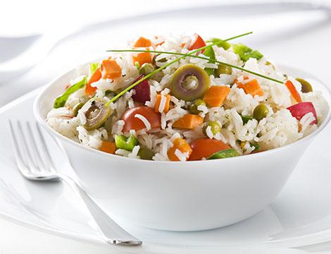 Menu vegetariano con calice