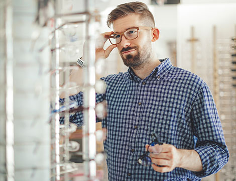 Montatura occhiali con lenti antiriflesso