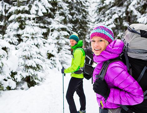 Passeggiata sulla neve con esercitazioni di orientamento