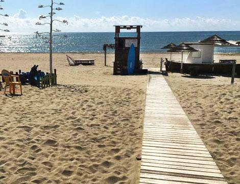 Spiaggia Playa del Mar ingresso alla spiaggia