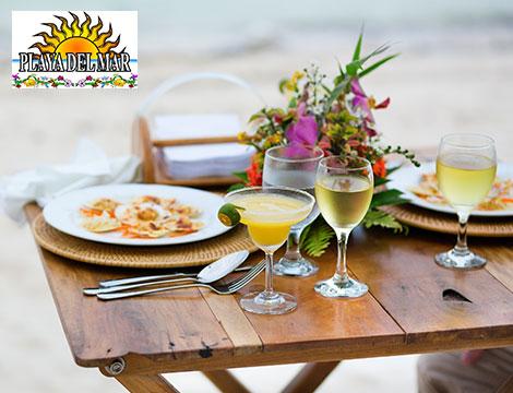 Spiaggia Playa del Mar pranzo in spiaggia