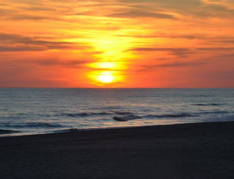 Spiaggia Playa del Mar spiaggia al tramonto