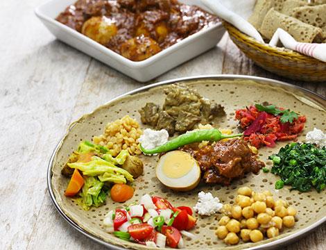 Menu eritreo con vino per 2 o 4 persone
